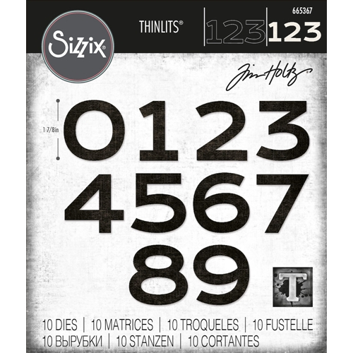 Tim Holtz Sizzix COUNTDOWN Thinlits Dies 665367 Preview Image