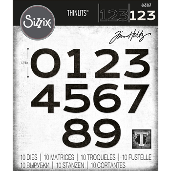 Tim Holtz Sizzix COUNTDOWN Thinlits Dies 665367