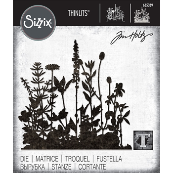 RESERVE Tim Holtz Sizzix FLOWER FIELD Thinlits Dies 665369