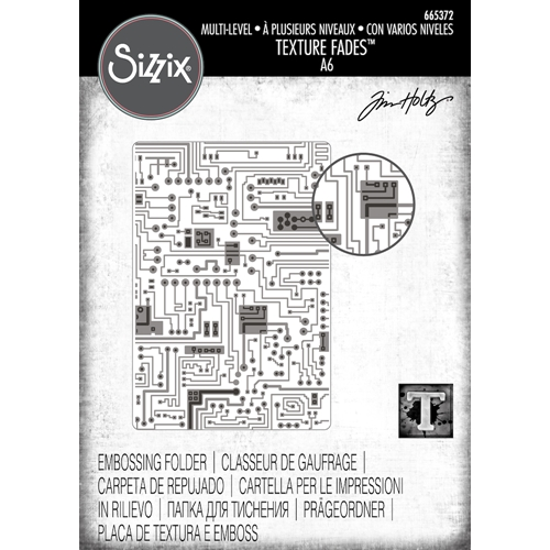 Tim Holtz Sizzix CIRCUIT 3D Texture Fades Embossing Folder 665372 Preview Image