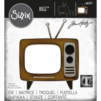 Tim Holtz Sizzix RETRO TV Bigz Die 665371