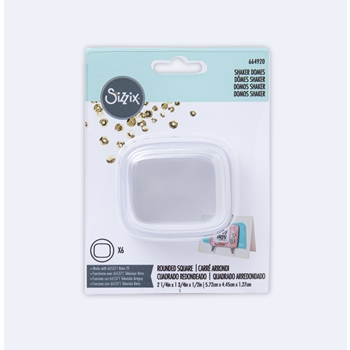 Sizzix ROUND SQUARE SHAKER DOMES 664920