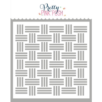 Pretty Pink Posh BASKETWEAVE Stencil
