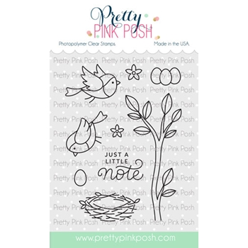Pretty Pink Posh SPRING ROBINS Clear Stamps