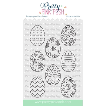 Pretty Pink Posh SPRING EGGS Clear Stamps