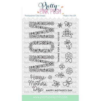 Pretty Pink Posh MOM Clear Stamps