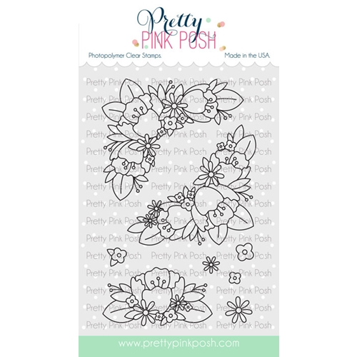 Pretty Pink Posh FLORAL CORNERS Clear Stamps Preview Image