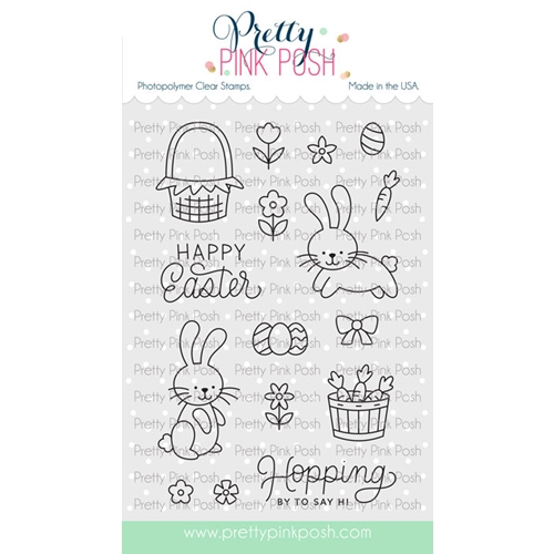 Pretty Pink Posh EASTER BUNNIES Clear Stamps Preview Image