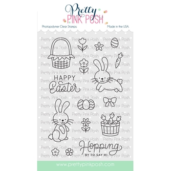 Pretty Pink Posh EASTER BUNNIES Clear Stamps*