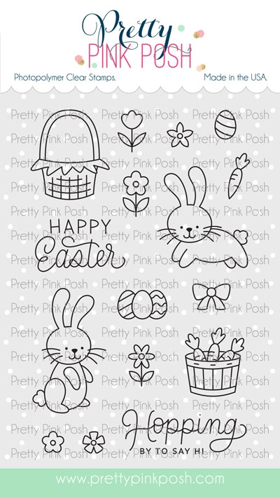 Pretty Pink Posh EASTER BUNNIES Clear Stamps zoom image