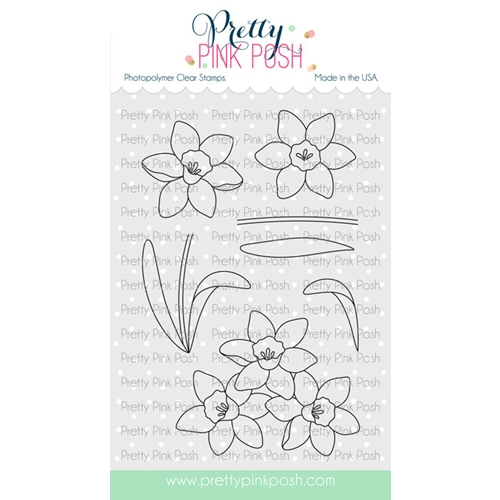 Pretty Pink Posh DAFFODILS Clear Stamps Preview Image