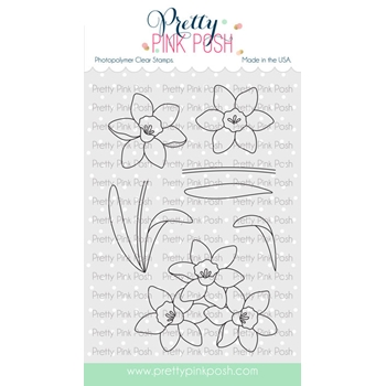 Pretty Pink Posh DAFFODILS Clear Stamps