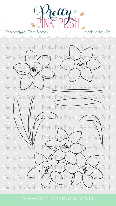 Pretty Pink Posh DAFFODILS Clear Stamps zoom image
