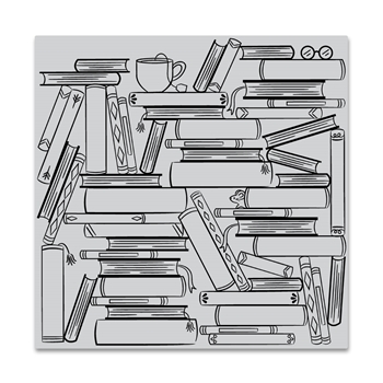Hero Arts Cling Stamp BOOK STACKS BOLD PRINTS CG840