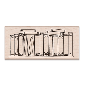 Hero Arts Rubber Stamp BOOKSHELF H6458