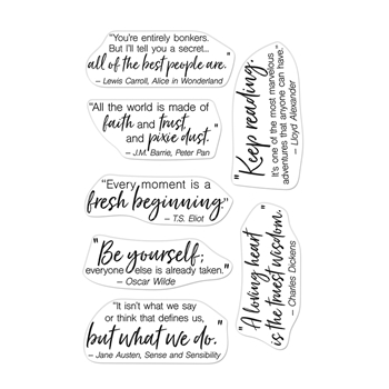 Hero Arts Clear Stamps LITERARY QUOTES Clear Stamps CM524