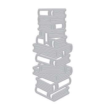 Hero Arts Fancy Cuts Dies STACKED BOOKS DI872