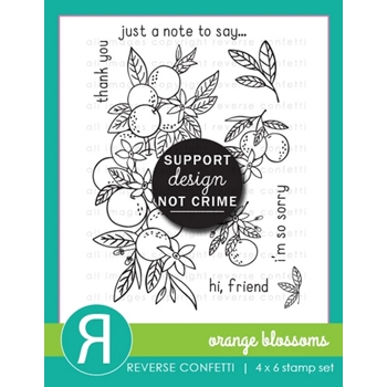 Reverse Confetti ORANGE BLOSSOMS Clear Stamps