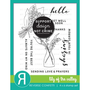 Reverse Confetti LILY OF THE VALLEY Clear Stamps
