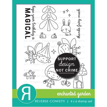 Reverse Confetti ENCHANTED GARDEN Clear Stamps