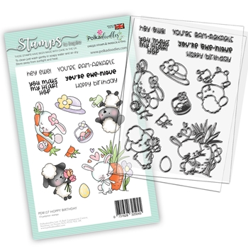 Polkadoodles HOPPY BIRTHDAY Clear Stamps pd8127 *