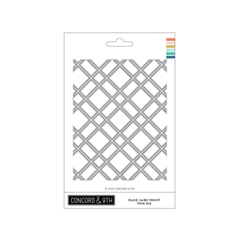 Concord & 9th PLAID CARD FRONT THIN Die 11065