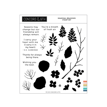 Concord & 9th SEASONAL BRANCHES Clear Stamp Set 11067