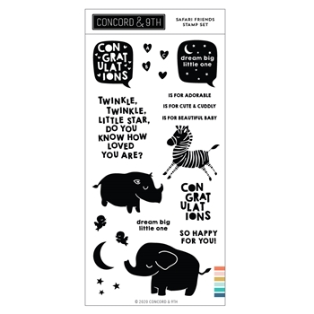 Concord & 9th SAFARI FRIENDS Clear Stamp Set 11070