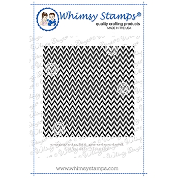 Whimsy Stamps CHEVRON Background Cling DDB0055