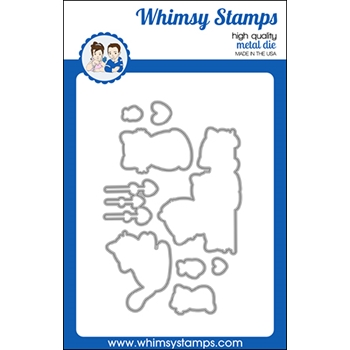 Whimsy Stamps THINKING OF MEW Dies WSD527
