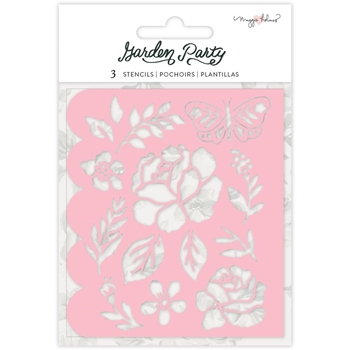 American Crafts Maggie Holmes GARDEN PARTY Stencil 3 Pack 34004907