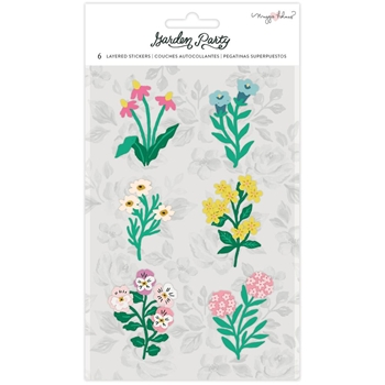 American Crafts Maggie Holmes GARDEN PARTY LAYERED STICKERS 34004906