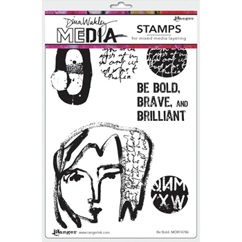 Dina Wakley BE BOLD Media Cling Rubber Stamp MDR74786