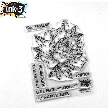 Inkon3 HERE FOR YOU Clear Stamps 04091