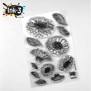 Inkon3 GERBERA DAISY Clear Stamps 04092