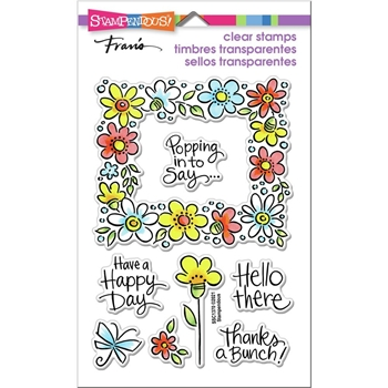 Stampendous Clear Stamps FLOWER FRAME ssc1370