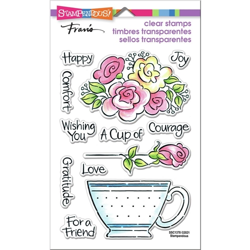 Stampendous Clear Stamps POP ROSE TEACUP ssc1378 Preview Image