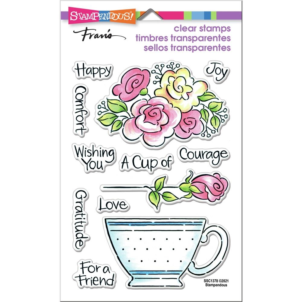 Stampendous Clear Stamps POP ROSE TEACUP ssc1378 zoom image