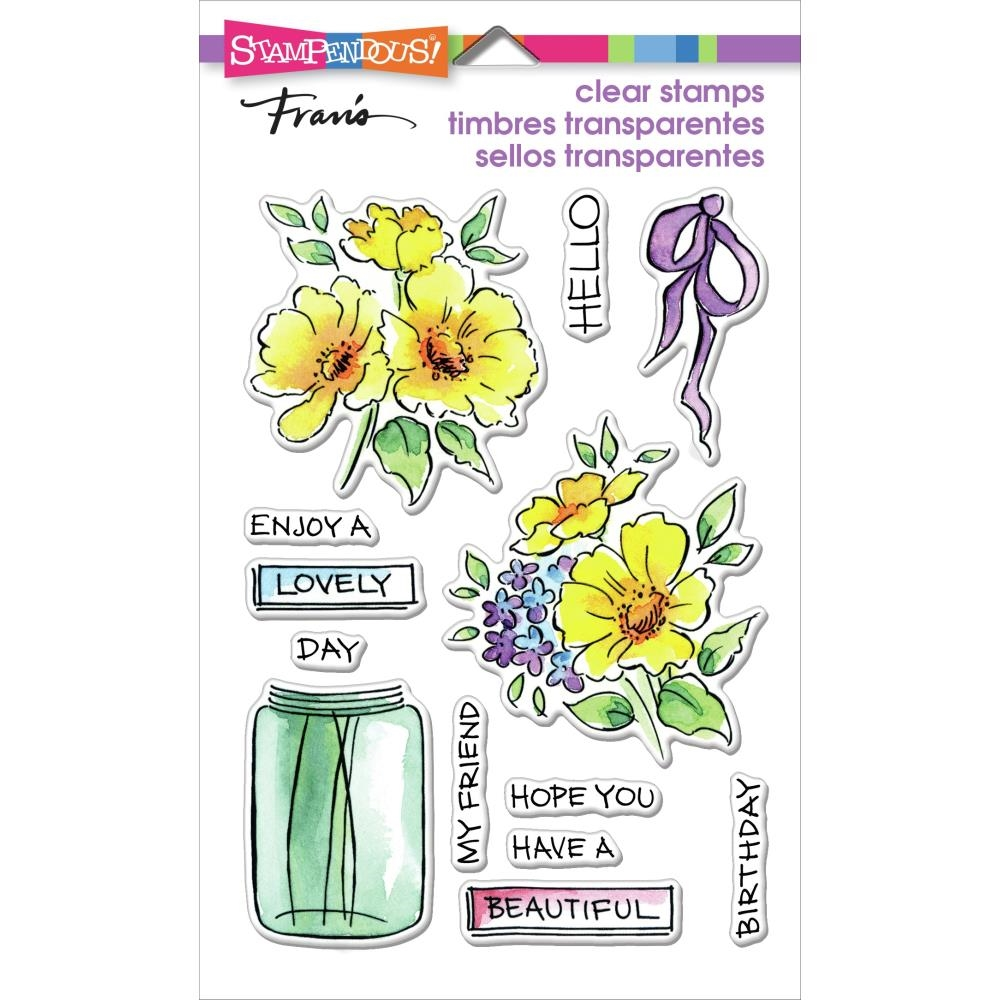 Stampendous Clear Stamps LOVELY FLOWERS ssc2010 zoom image