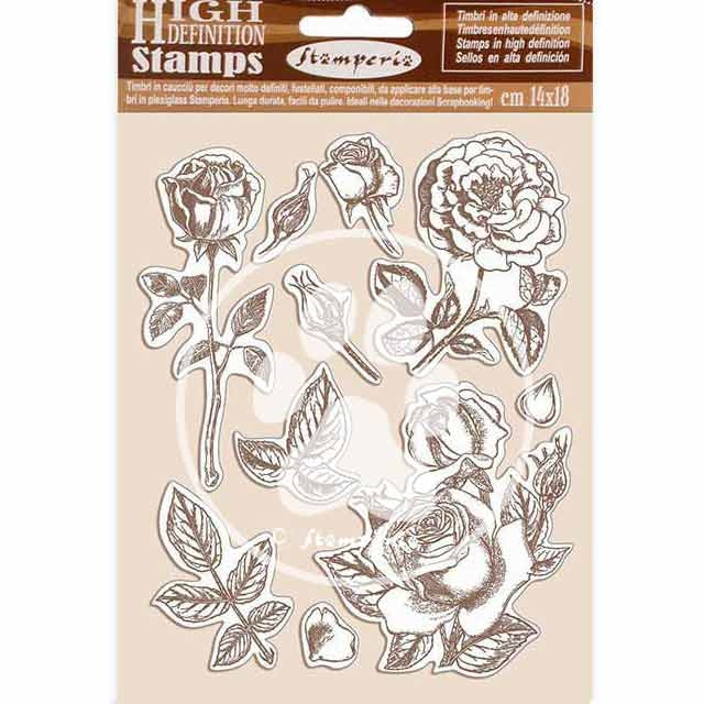 Stamperia PASSION ROSE Cling Stamps wtkcc198 zoom image