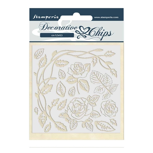 Stamperia PASSION ROSES Decorative Chips scb44 Preview Image