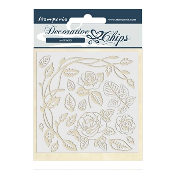Stamperia PASSION ROSES Decorative Chips scb44