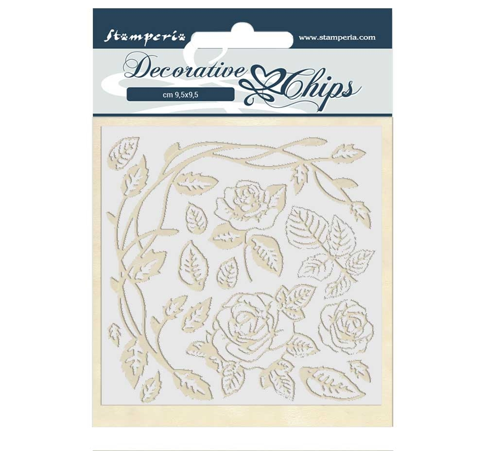 Stamperia PASSION ROSES Decorative Chips scb44 zoom image