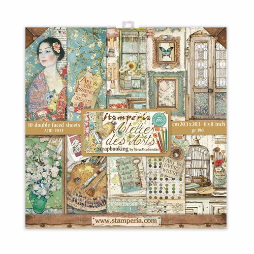 Stamperia ATELIER DES ARTS 8x8 Paper sbbs33 Preview Image