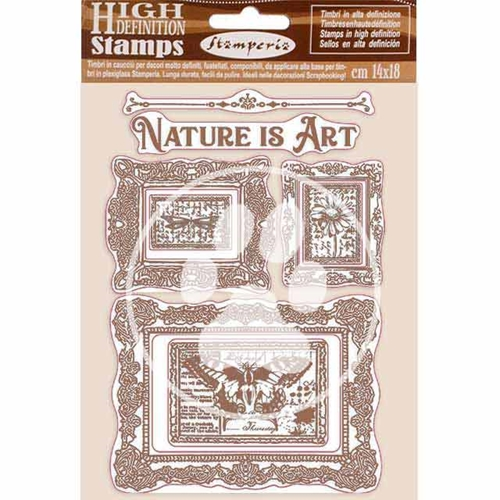 Stamperia ATELIER DES ARTS NATURE IS ART FRAMES Cling Stamps wtkcc200 Preview Image
