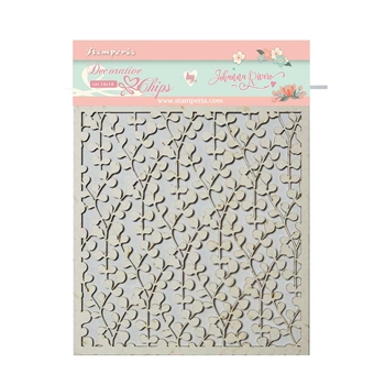 Stamperia CIRCLE OF LOVE TEXTURE Decorative Chips scb39