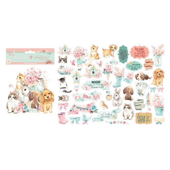 Stamperia CIRCLE OF LOVE CATS, DOGS Die Cuts dfldc29*