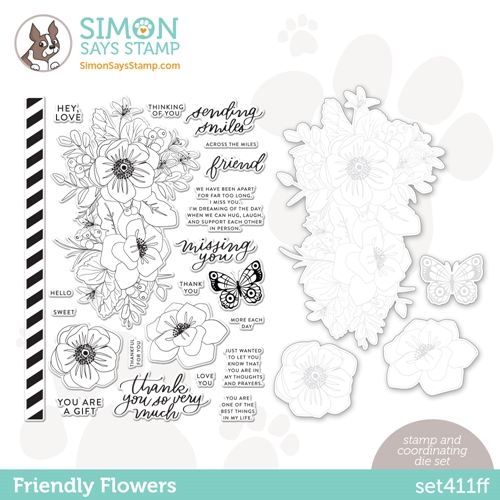 Simon Says Stamps and Dies FRIENDLY FLOWERS set411ff Preview Image