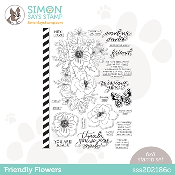 Simon Says Clear Stamps FRIENDLY FLOWERS sss202186c