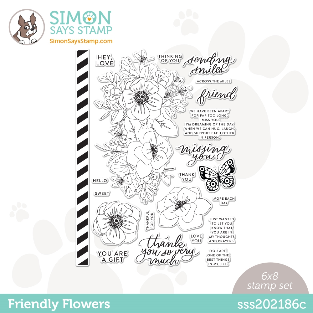 Simon Says Clear Stamps FRIENDLY FLOWERS sss202186c zoom image